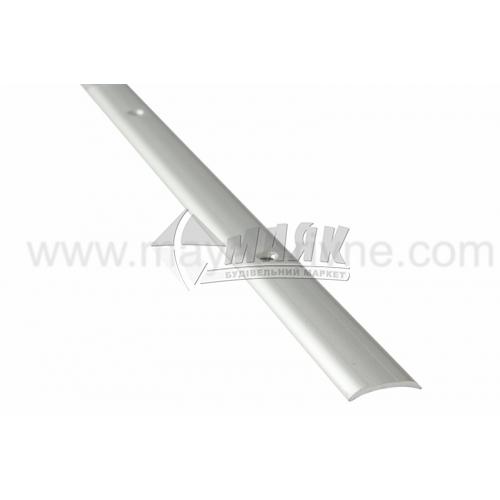 Планка поріжна алюмінієва TIS А020Г гладка 4×20×1800 мм срібло матове