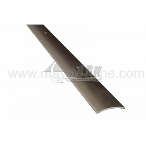 Планка поріжна алюмінієва TIS А030Г гладка 5×30×1800 мм бронза матова
