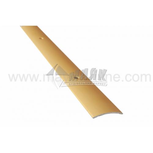 Планка поріжна алюмінієва TIS А030Г гладка 5×30×1800 мм золото матове
