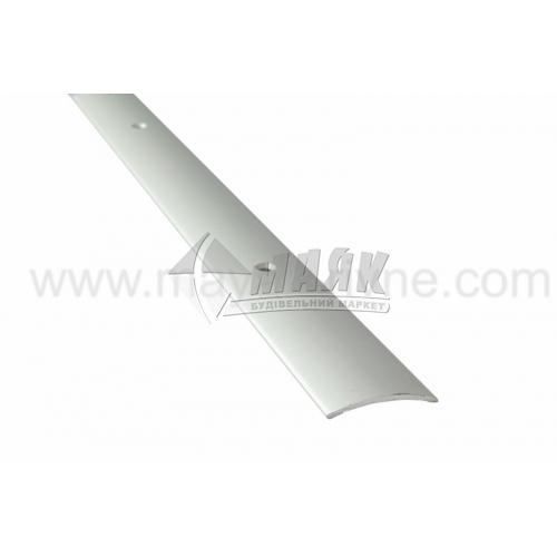 Планка поріжна алюмінієва TIS А030Г гладка 5×30×1800 мм срібло матове