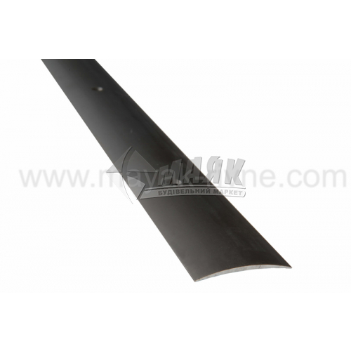 Планка поріжна алюмінієва TIS А040Г гладка 5×40×1800 мм бронза матова