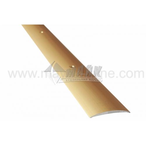 Планка поріжна алюмінієва TIS А040Г гладка 5×40×1800 мм золото матове