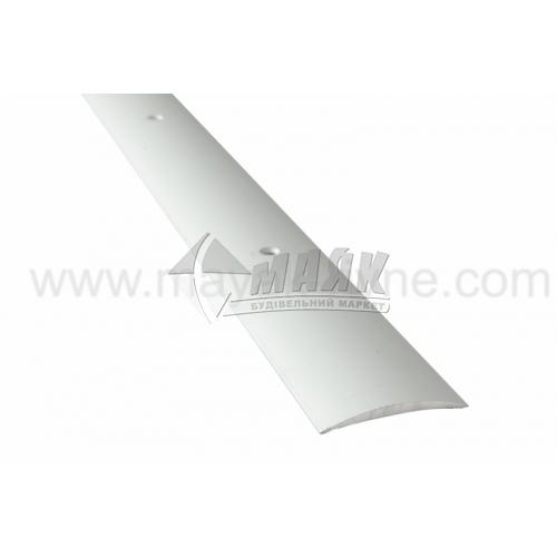 Планка поріжна алюмінієва TIS А040Г гладка 5×40×1800 мм срібло матове