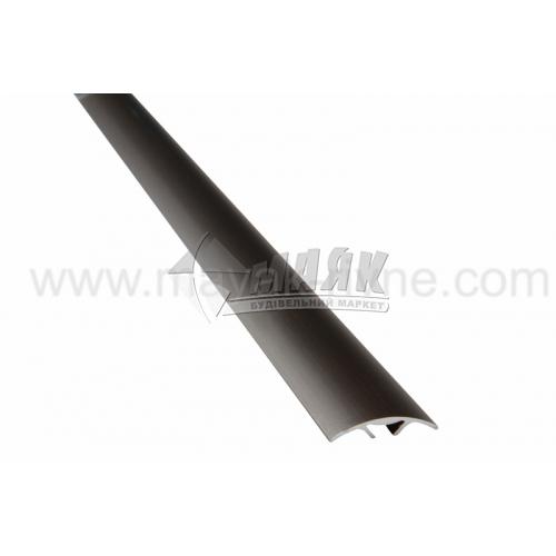 Планка поріжна алюмінієва TIS А028С приховане кріплення 5×28×1800 мм бронза матова