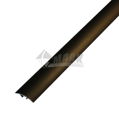 Планка поріжна алюмінієва TIS А028С приховане кріплення 5×28×2700 мм бронза матова