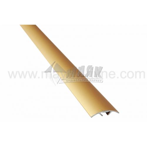 Планка поріжна алюмінієва TIS А028С приховане кріплення 5×28×1800 мм золото матове