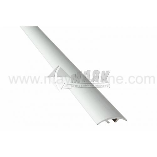 Планка поріжна алюмінієва TIS А028С приховане кріплення 5×28×1800 мм срібло матове