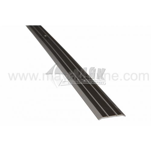 Планка поріжна алюмінієва TIS А025Р рифлена 3×25×2700 мм бронза матова