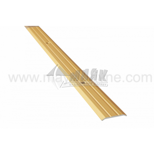 Планка поріжна алюмінієва TIS А025Р рифлена 3×25×2700 мм золото матове