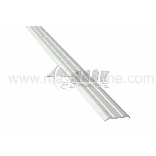 Планка поріжна алюмінієва TIS А025Р рифлена 3×25×2700 мм срібло матове