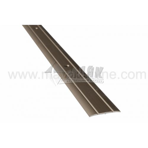 Планка поріжна алюмінієва TIS А030Р рифлена 3×30×1800 мм бронза матова