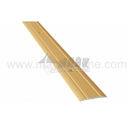 Планка поріжна алюмінієва TIS А030Р рифлена 3×30×900 мм золото матове