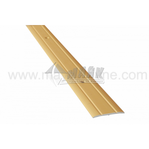 Планка поріжна алюмінієва TIS А030Р рифлена 3×30×1800 мм золото матове