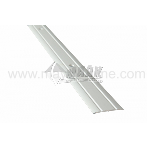 Планка поріжна алюмінієва TIS А030Р рифлена 3×30×1800 мм срібло матове