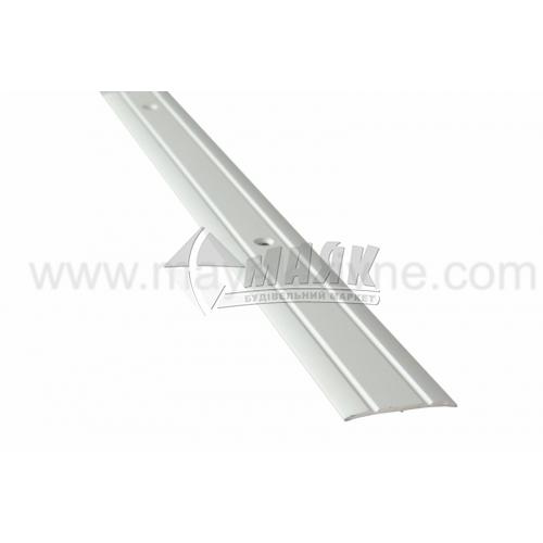 Планка поріжна алюмінієва TIS А030Р рифлена 3×30×2700 мм срібло матове