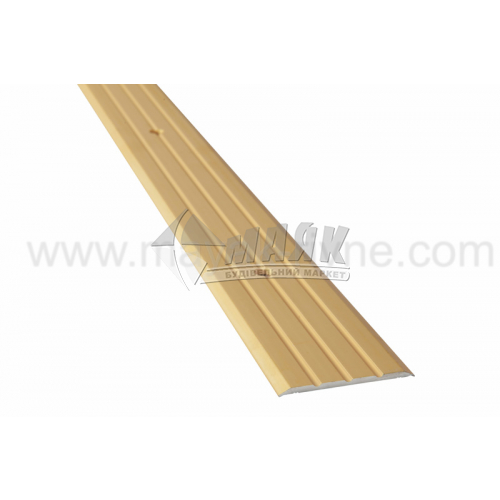 Планка поріжна алюмінієва TIS А040Р рифлена 3×40×1800 мм золото матове