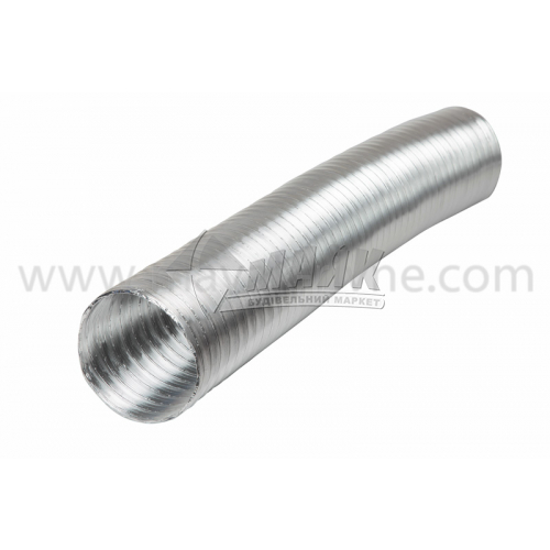 Повітровід гнучкий алюмінієвий VENTS Алювент M 135 мм 3 м
