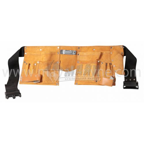 Пояс для ручного інструменту 11 кишень нейлон/шкіра