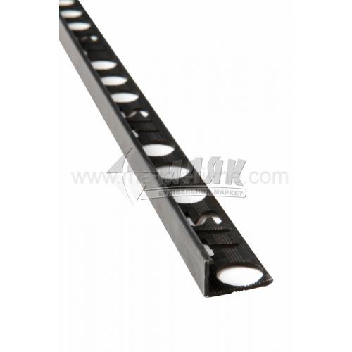Профіль для плитки алюмінієвий АП10 прямий 2700 мм бронза матова