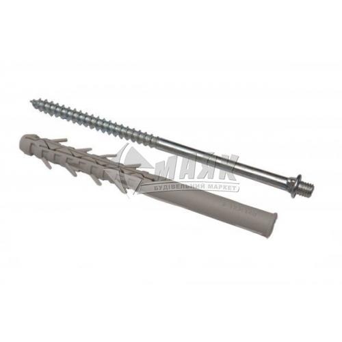 Шуруп з дюбелем для водостічної труби NewWay 200 мм