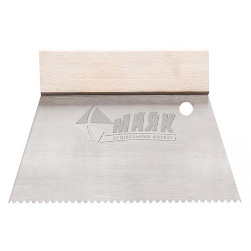 Шпатель зубчастий HARDY 180 мм нержавіюча сталь
