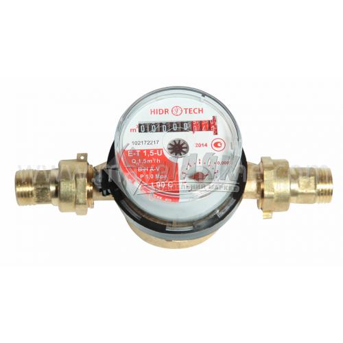 Лічильник гарячої води Гідротек Е-Т 1,5U