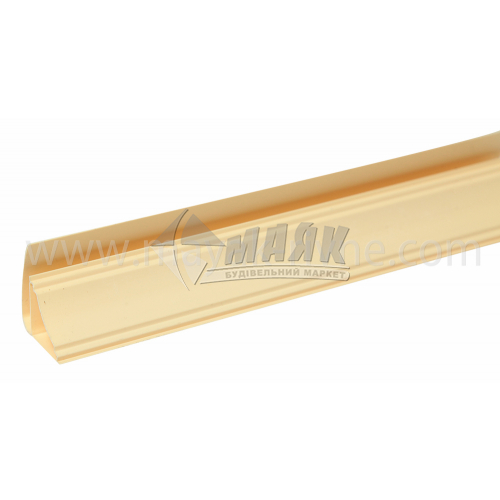 Профіль монтажний ПВХ стельовий плінтус Р-подібний 3 пог.м 8 мм світло-коричневий