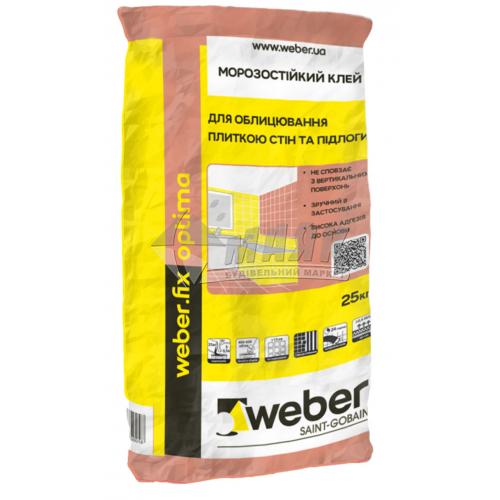 Клей для облицювальної плитки Weber.fix high fix 25 кг