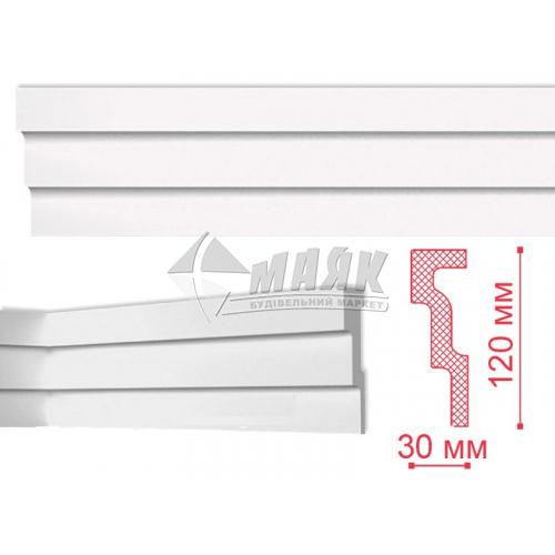 Плінтус стельовий декоративний NMC M1 Nomastyl 120×30×2000 мм