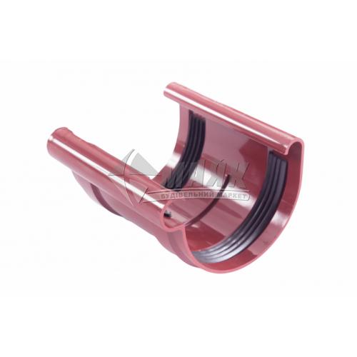Муфта (з'єднувач) ринви з прокладкою пластикова Profil 130 мм 130/100 червона