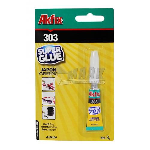Клей універсальний Akfix 303 Super 3 г