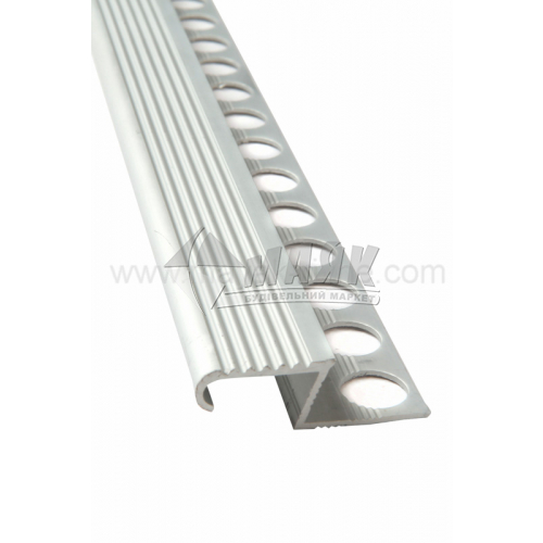 Профіль для плитки алюмінієвий TIS АЛПЗ з'єднувальний 2700 мм срібло матове