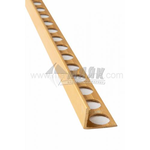 Профіль для плитки алюмінієвий TIS АП12 2700 мм золото матове