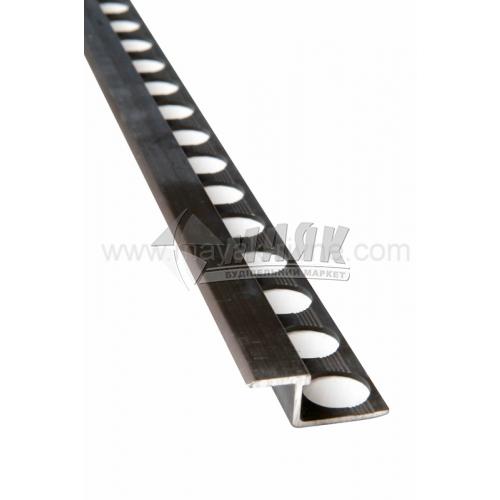 Профіль для плитки алюмінієвий TIS АПЗ з'єднувальний 2700 мм бронза матова