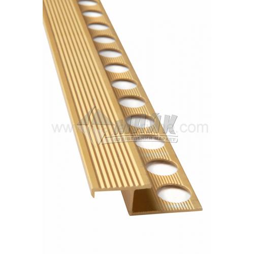 Профіль для плитки алюмінієвий TIS АПЗР 2700 мм золото матове