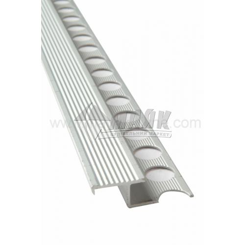 Профіль для плитки алюмінієвий TIS АПЗР 2700 мм срібло матове