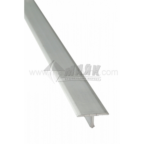 Профіль для плитки алюмінієвий TIS АТ18 2700 мм срібло матове