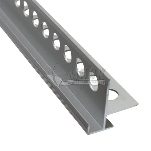 Профіль для плитки алюмінієвий TIS ЕЛК сходинковий 2700 мм срібло матове