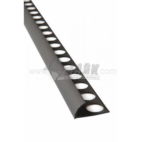 Профіль для плитки алюмінієвий TIS НАП10 2700 мм бронза матова