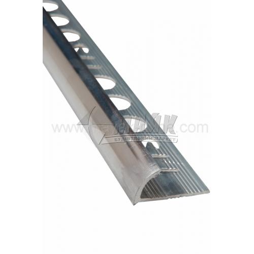 Профіль для плитки алюмінієвий TIS НАП10 2700 мм полірований