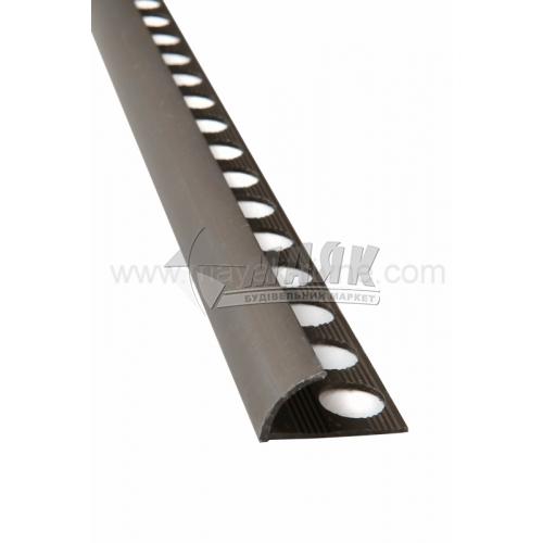 Профіль для плитки алюмінієвий TIS НАП12 2700 мм бронза матова