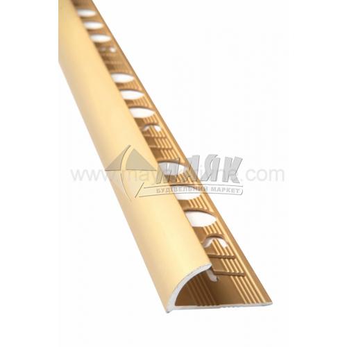 Профіль для плитки алюмінієвий TIS НАП12 2700 мм золото матове