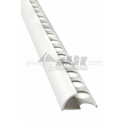 Профіль для плитки алюмінієвий TIS НАП12 2700 мм срібло матове