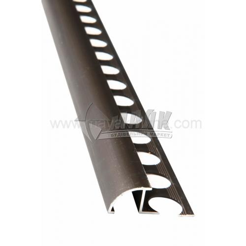 Профіль для плитки алюмінієвий TIS ОАП 2700 мм бронза матова