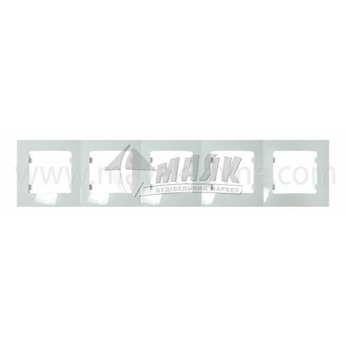 Рамка п'ятимісна горизонтальна Makel Lilium Nat Kare біла