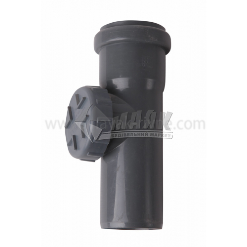 Ревізія ПВХ внутрішня каналізація Інсталпласт 50 мм сіра
