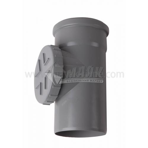 Ревізія ПВХ внутрішня каналізація Інсталпласт 110 мм сіра