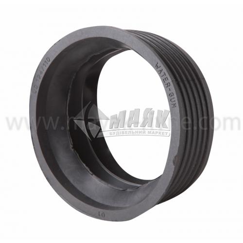 Редукція ПВХ внутрішня каналізація 124×110 мм чорна