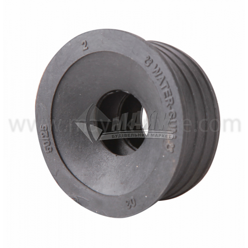 Редукція ПВХ внутрішня каналізація 50×25 мм чорна