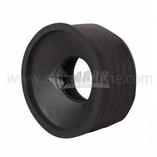 Редукція ПВХ внутрішня каналізація 72×40 мм чорна
